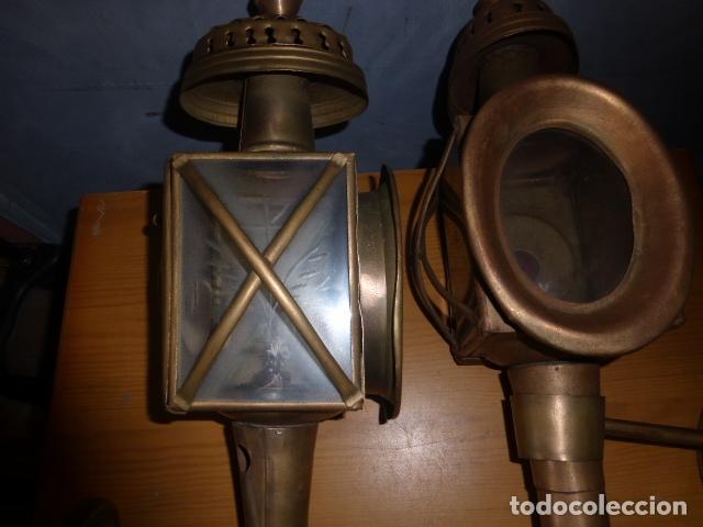 Antigüedades: PAREJA DE LAMPARAS DE CARRUAJE - Foto 2 - 219379577