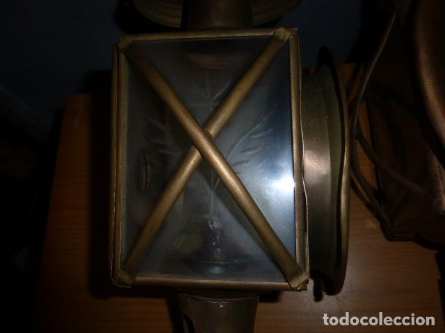 Antigüedades: PAREJA DE LAMPARAS DE CARRUAJE - Foto 3 - 219379577