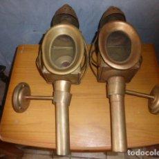 Antigüedades: PAREJA DE LAMPARAS DE CARRUAJE. Lote 219379577