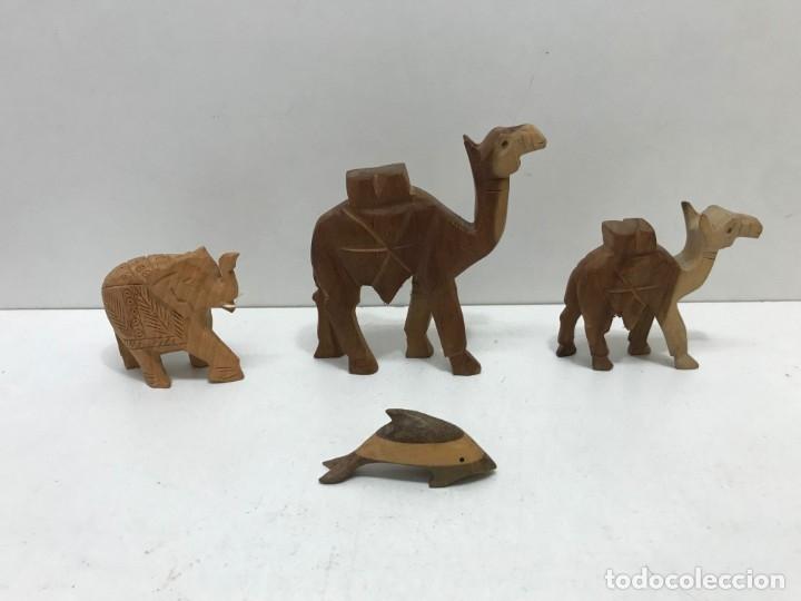 Antigüedades: LOTE 4 ANIMALES DE MADERA - Foto 3 - 173155138