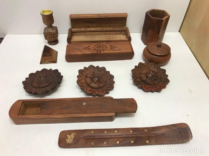 Antigüedades: LOTE 11 ARTICULOS DE MADERA - Foto 3 - 173155955