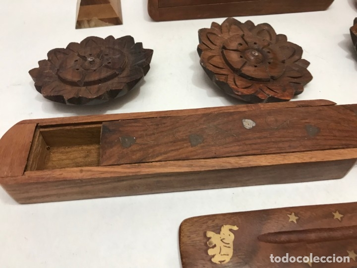 Antigüedades: LOTE 11 ARTICULOS DE MADERA - Foto 5 - 173155955