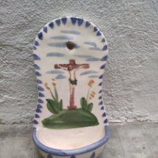 Antigüedades: PRECIOSA PILA DE AGUA BENDITA AÑOS 90 BENDITERA. Lote 173157362