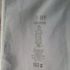 Antigüedades: ANTIGUO CORTE DE SÁBANA.MANOLA VERDE.FCA.DE TEJIDOS.TEXTIL TORRES,S.A.BARCELONA.AÑOS 60.. Lote 173166277