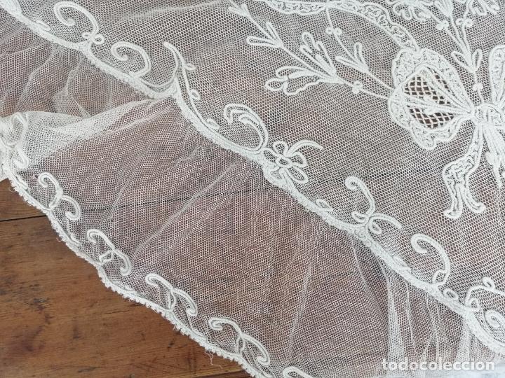 Antigüedades: Manteleta bobine mantilla - Foto 3 - 173200652