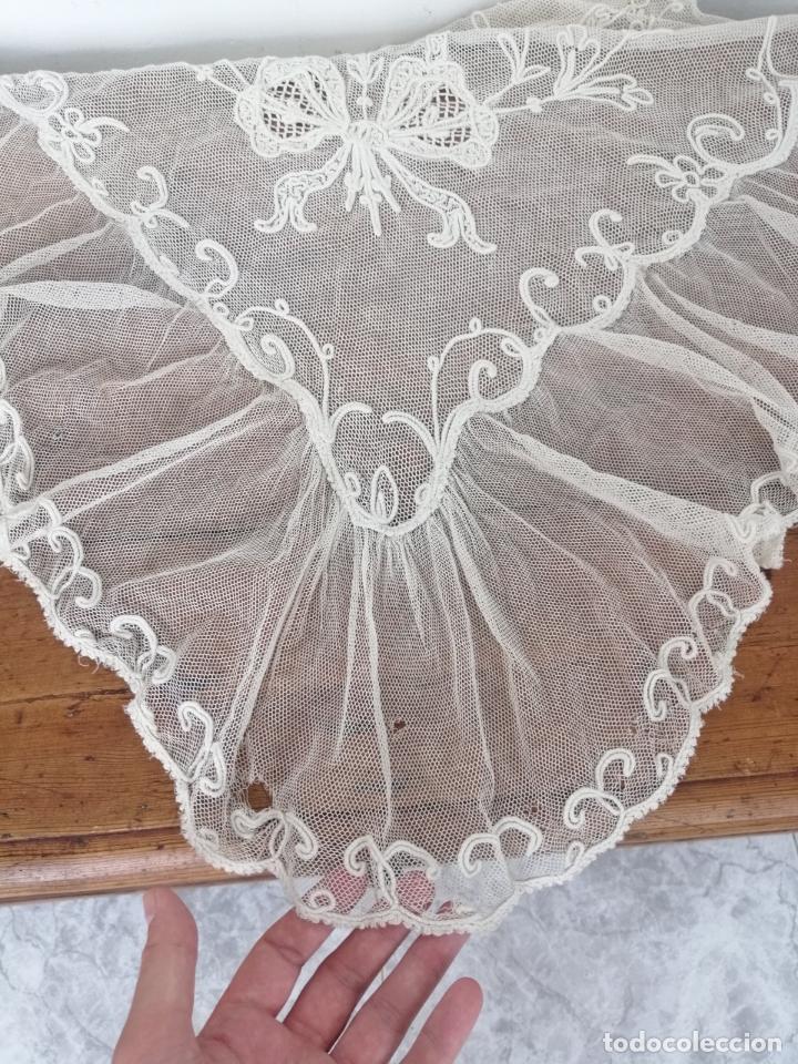 Antigüedades: Manteleta bobine mantilla - Foto 4 - 173200652