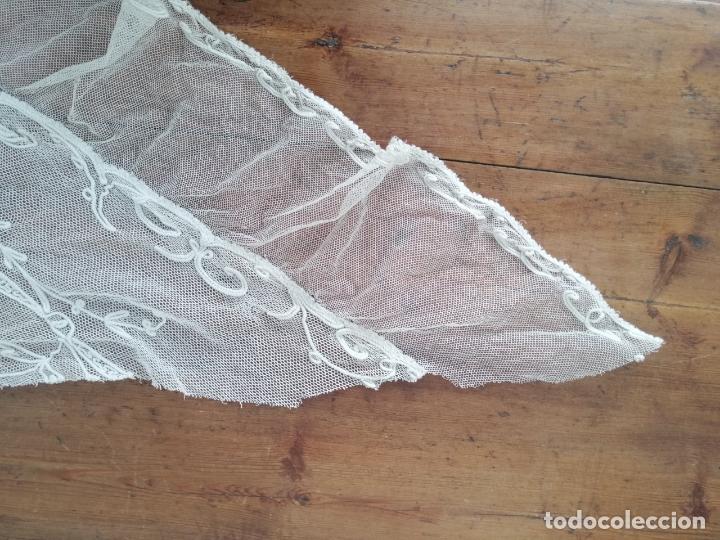 Antigüedades: Manteleta bobine mantilla - Foto 6 - 173200652