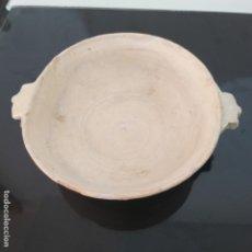 Antigüedades: PLATO ESCUDILLA SIGLO XVII VIDRIADO EN BLANCO. Lote 173217778