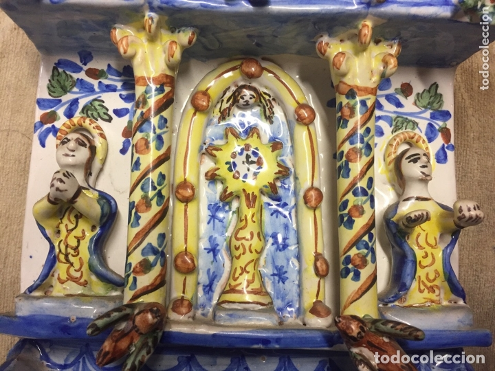 Antigüedades: Antigua Benditera de cerámica en muy buen estado. - Foto 4 - 173218039