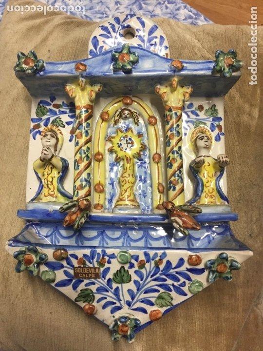 Antigüedades: Antigua Benditera de cerámica en muy buen estado. - Foto 3 - 173218039