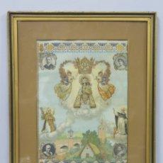 Antigüedades: CARTEL SEDA RECUERDO DE LA CORONACION DE LA VIRGEN DE LOS DESAMPARADOS. VALENCIA. LIT. DURA. Lote 173252145