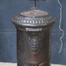 Antigüedades: ANTIGUA SALAMANDRA DE HIERRO FUNDIDO. Lote 173253567