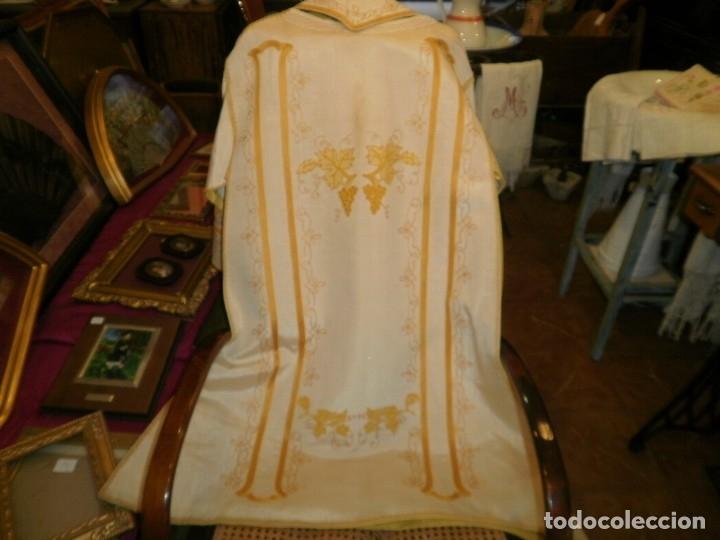 Antigüedades: ANTIGUA Y PRECIOSA DALMATICA BORDADA EN SEDA - Foto 11 - 173264788