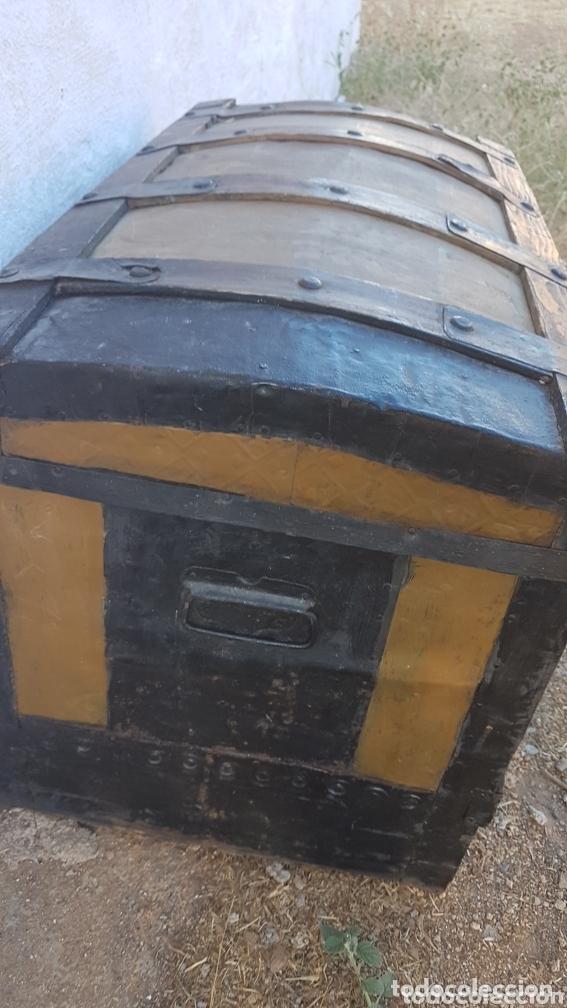 Antigüedades: Magnifico antiguo baúl fabricado Madrid - Foto 3 - 173287738