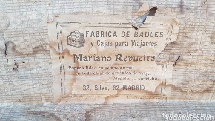 Antigüedades: Magnifico antiguo baúl fabricado Madrid - Foto 6 - 173287738