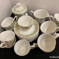 Antigüedades: PRECIOSO JUEGO DE CAFE PORZELANIT MADE IN SPAIN. 12 SERVICIOS. Lote 173304584