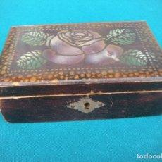 Antigüedades: CAJA DE MADERA CON ESPEJO. Lote 173369803