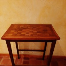 Antigüedades: MESA AUXILIAR TARACEADA SIGLO XVIII. Lote 173384378
