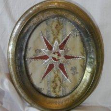 Antigüedades: ANTIGUO RELICARIO. MARCO DE PLATA. SAN SIMÓN, MARTIR. RESTOS ÓSEOS. (33 CM X 27 CM). Lote 173384765