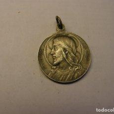 Antigüedades: MEDALLA RELIGIOSA ANTIGUA DEL SALVATOR MUNDI, PAPA LEON XIII. DE PLATA.. Lote 213992068