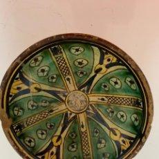 Antigüedades: PLATO CERÁMICA MANISES SIGLO XVII. Lote 173398415