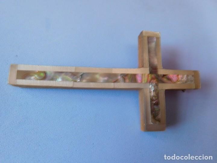 CRUZ NACARADA PARA COLGANTE (Antigüedades - Religiosas - Cruces Antiguas)