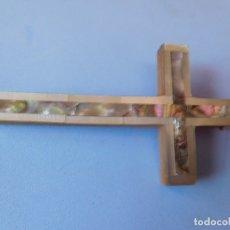 Antigüedades: CRUZ NACARADA PARA COLGANTE. Lote 173428130