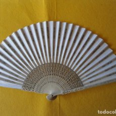 Antigüedades: ANTIGUO ABANICO DE MADERA. Lote 173435943