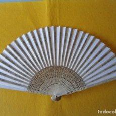 Antigüedades: ANTIGUO ABANICO DE MADERA. Lote 173436062