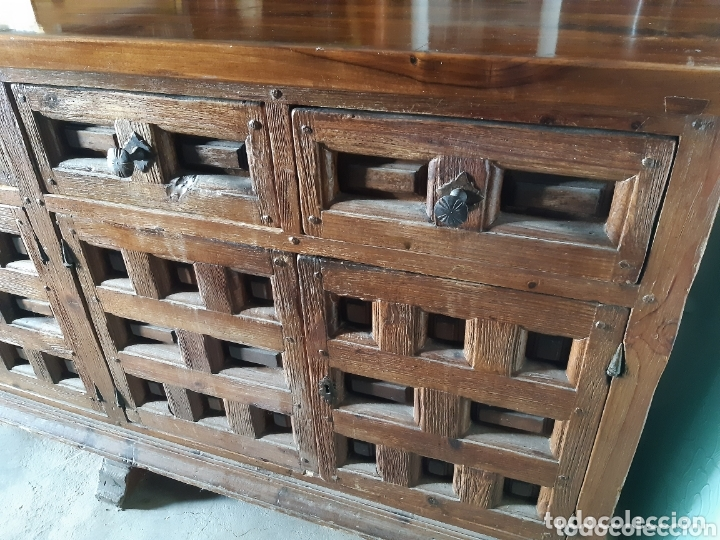 Antigüedades: MUEBLE APARADOR 280 CMS. DE LARGO. - Foto 9 - 201493052