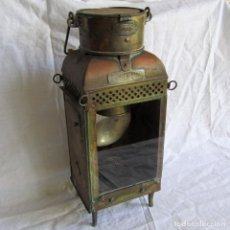 Antigüedades: ANTIGUO FAROL O LÁMPARA DE MANO BULPITT & SONSL BIRMINGHAN 1930 ESPERMA. Lote 173463460