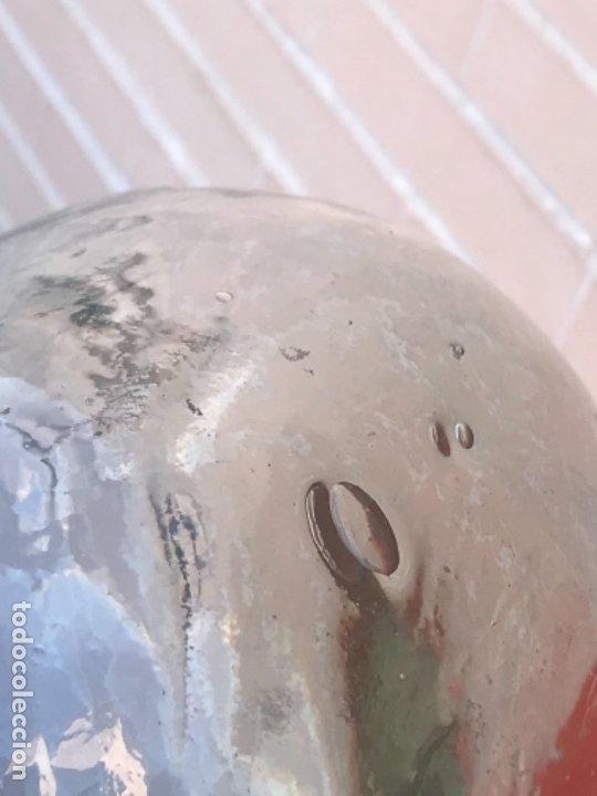 Antigüedades: Cabeza cristal auténtico maniquí años 30 ,original muy bonita burbujas del soplado , pesada calidad - Foto 8 - 173472973