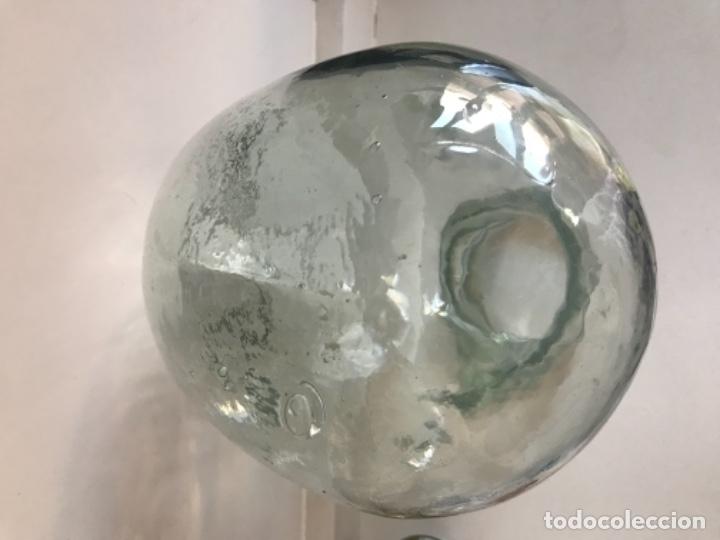Antigüedades: Cabeza cristal auténtico maniquí años 30 ,original muy bonita burbujas del soplado , pesada calidad - Foto 13 - 173472973
