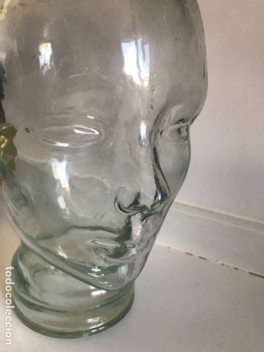 Antigüedades: Cabeza cristal auténtico maniquí años 30 ,original muy bonita burbujas del soplado , pesada calidad - Foto 16 - 173472973