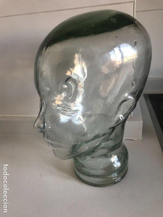 Antigüedades: Cabeza cristal auténtico maniquí años 30 ,original muy bonita burbujas del soplado , pesada calidad - Foto 27 - 173472973
