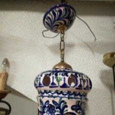 Antigüedades: LÁMPARA CERÁMICA FAJALAUZA. Lote 173476807