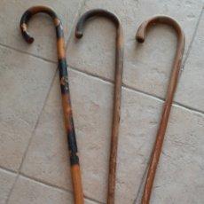 Antigüedades: LOTE BASTONES MADERA NATURAL. Lote 173493310