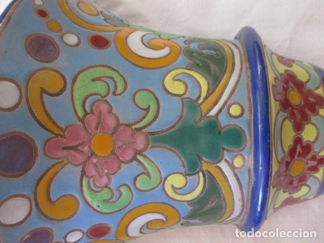 Antigüedades: Pareja de maceteros cuerda seca (Triana) - Foto 2 - 173493685