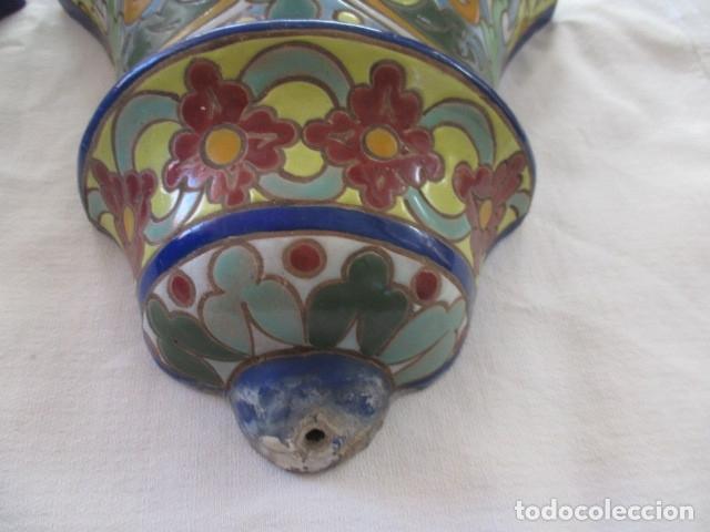 Antigüedades: Pareja de maceteros cuerda seca (Triana) - Foto 3 - 173493685