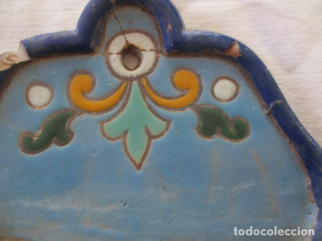 Antigüedades: Pareja de maceteros cuerda seca (Triana) - Foto 5 - 173493685