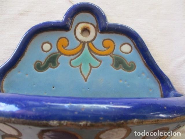 Antigüedades: Pareja de maceteros cuerda seca (Triana) - Foto 6 - 173493685