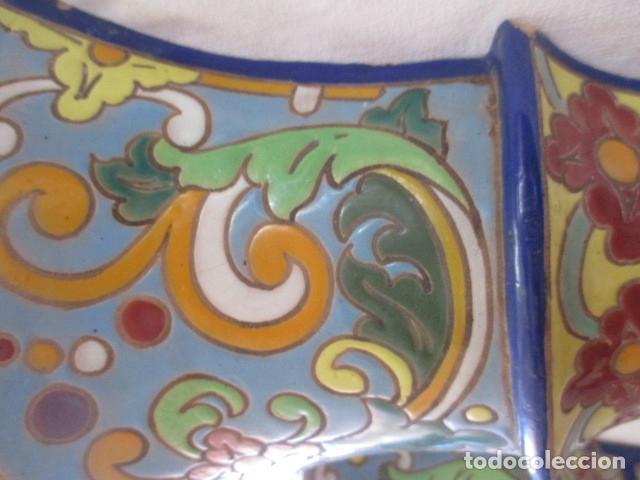 Antigüedades: Pareja de maceteros cuerda seca (Triana) - Foto 7 - 173493685