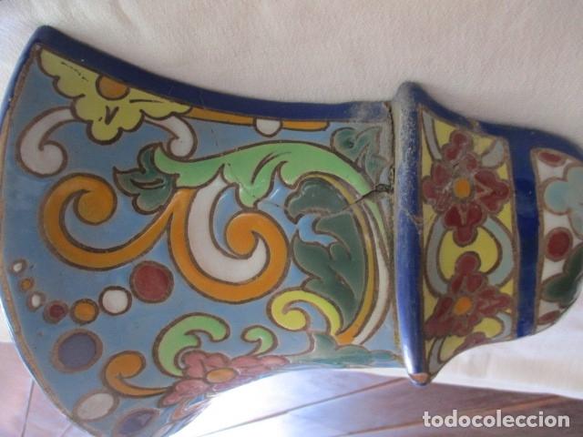 Antigüedades: Pareja de maceteros cuerda seca (Triana) - Foto 8 - 173493685