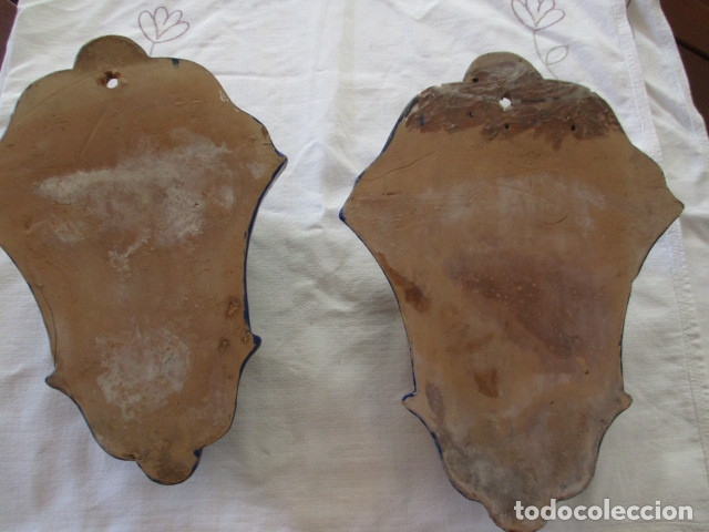 Antigüedades: Pareja de maceteros cuerda seca (Triana) - Foto 11 - 173493685