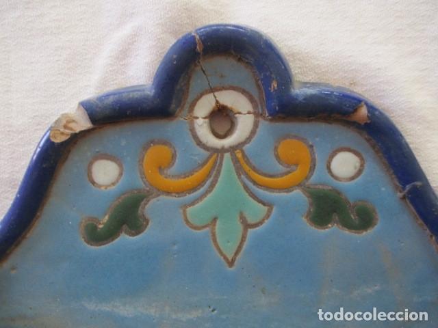 Antigüedades: Pareja de maceteros cuerda seca (Triana) - Foto 12 - 173493685
