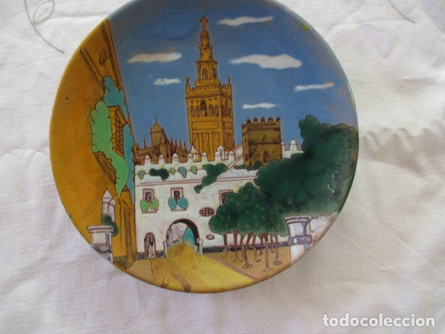 PLATO CERAMICA TRIANA GIRALDA (Antigüedades - Porcelanas y Cerámicas - Triana)