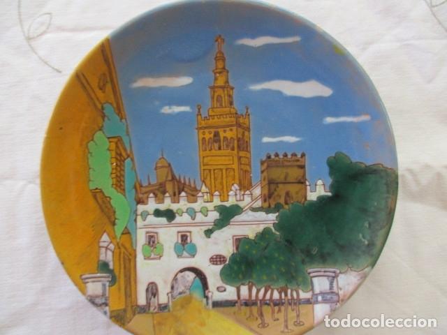 Antigüedades: Plato ceramica Triana Giralda - Foto 2 - 173493888