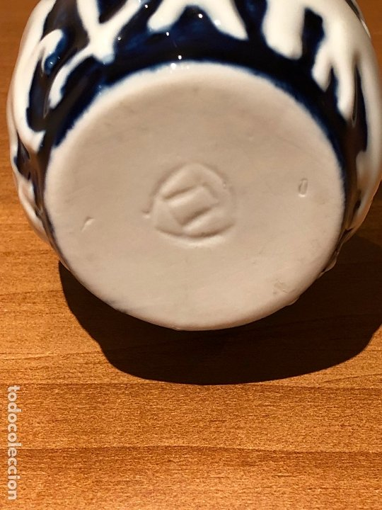 Antigüedades: Mechero cerámicas do castro, modelo Cabalos azul. SADA CORUÑA primera edición Años 60 Sargadelos - Foto 3 - 173495693