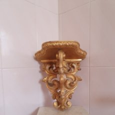 Antigüedades: PRECIOSA Y ANTIGUA MENSULA DORADA PARA SANTO. Lote 160730902