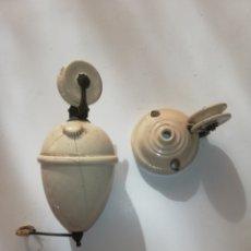 Antigüedades: LAMPARA CONTRAPESO PORCELANA. Lote 173511969